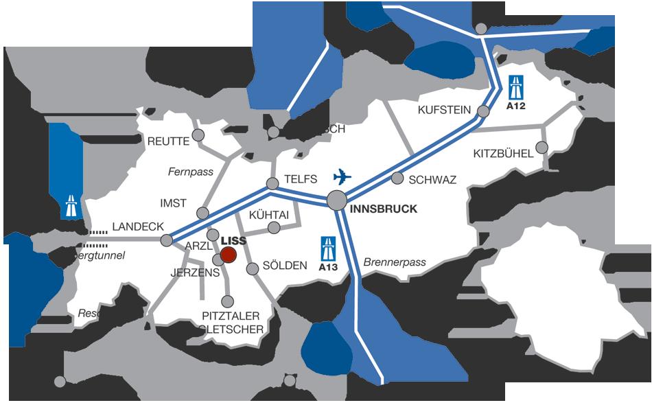 Anreise Hotel Venetblick